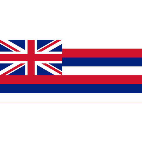 Hawaii State Flag Sticker Decal - The Aloha State Bumper Sticker