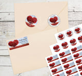 Heart Tree Personalized Return Address Labels Red Leaves Heart Tree - The FinderThings