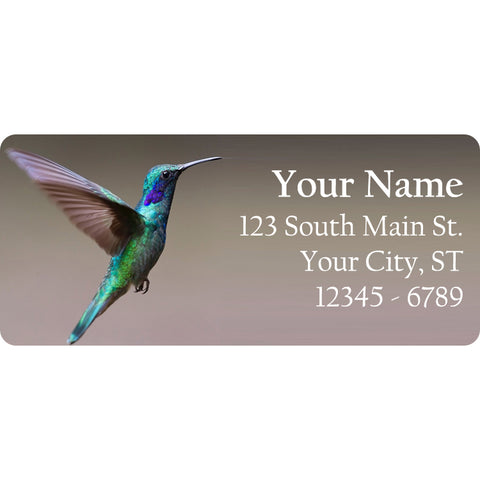 Hummingbird Personalized Return Address Labels Humming Bird Birds - The FinderThings