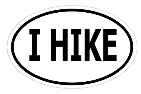 I Hike Sticker Decal - Backpacking Hiker Mountain Sports Bumper Sticker - The FinderThings