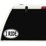 I Ride Sticker Decal - Motorcycle or Horse Rider Bumper Sticker - The FinderThings