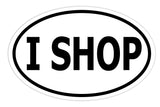 I Shop Sticker Decal - Shopaholic and Shopping Lover Bumper Sticker - The FinderThings