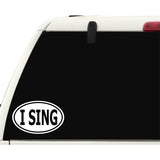 I Sing Sticker Decal - Singer Songwriter Karaoke Bumper Sticker - The FinderThings