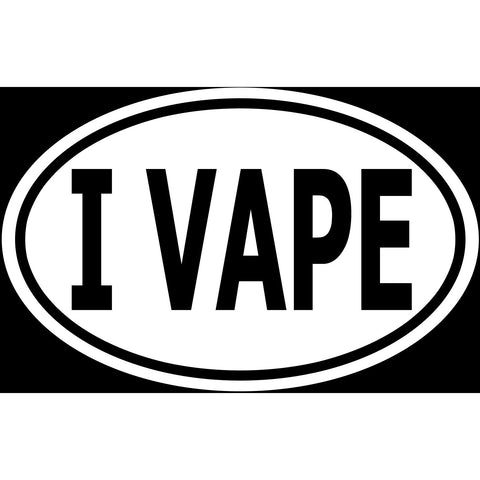 I Vape Sticker Decal - Vape Smoker Cloud Creator Bumper Sticker