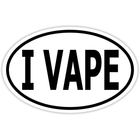 I Vape Sticker Decal - Vape Smoker Cloud Creator Bumper Sticker - The FinderThings