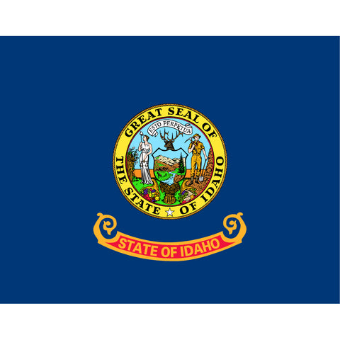 Idaho State Flag Sticker Decal - The Gem State Bumper Sticker - The FinderThings