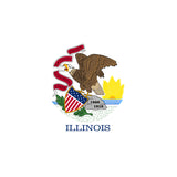 Illinois State Flag Sticker Decal - The Prairie State Bumper Sticker - The FinderThings