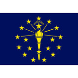 Indiana State Flag Sticker Decal - The Hoosier State Bumper Sticker - The FinderThings