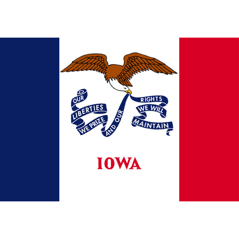 Iowa State Flag Sticker Decal - The Buckeye State Bumper Sticker - The FinderThings