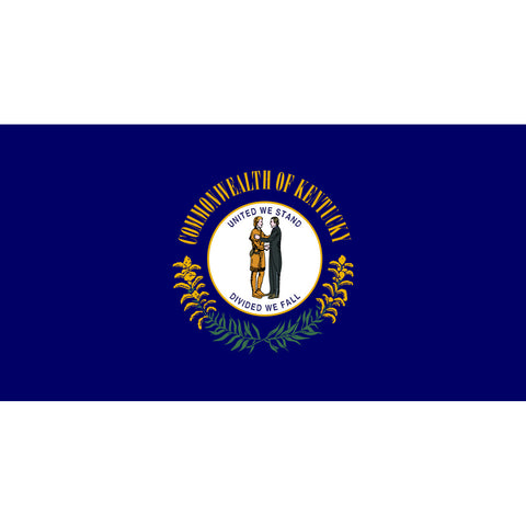 Kentucky State Flag Sticker Decal - The Bluegrass State Bumper Sticker - The FinderThings