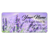 Lavender Flowers Personalized Return Address Labels Purple Flowers - The FinderThings