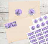 Lavender Flowers Personalized Return Address Labels Purple Flowers