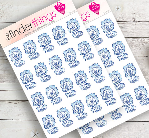 Lindstrom Lions Elementary School Stickers for Scrapbook, Planners, and Fun - The FinderThings