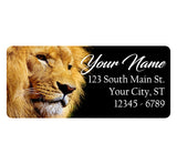 Lion Personalized Return Address Labels Powerful Lion Africa - The FinderThings