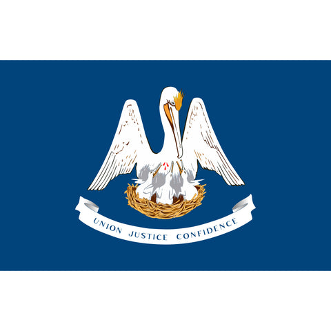 Louisiana State Flag Sticker Decal - The Pelican State Bumper Sticker - The FinderThings