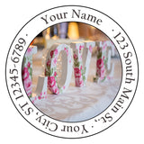 Love Letters Personalized Return Address Labels Flowers Love Words - The FinderThings