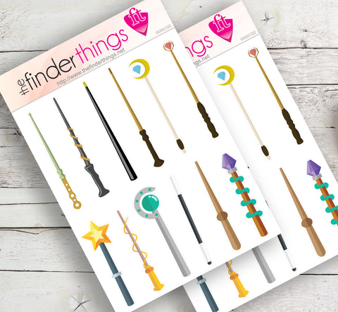 Magic Wand Fantasy Stickers for Scrapbook, Planners, and Fun - The FinderThings