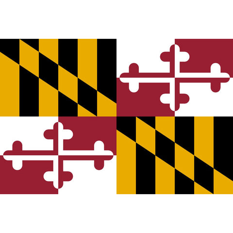 Maryland State Flag Sticker Decal - The Old Line State Bumper Sticker