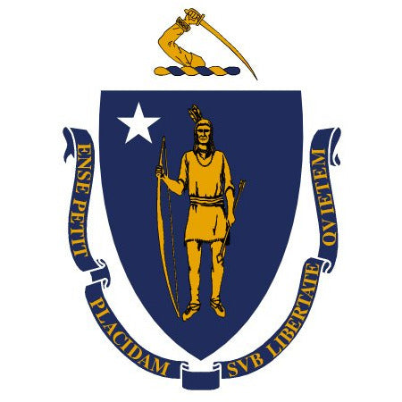 Massachusetts State Flag Sticker Decal - The Bay State Bumper Sticker