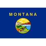 Montana State Flag Sticker Decal - The Treasure State Bumper Sticker - The FinderThings