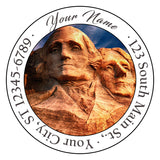 Mt. Rushmore Personalized Return Address Labels American Presidents USA America - The FinderThings