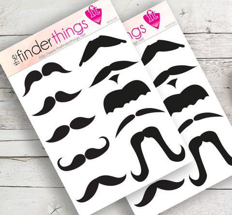 Mustache Stickers for Scrapbook, Planners, Diary, Crafts and Fun Movember