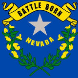 Nevada State Flag Sticker Decal - The Silver State Bumper Sticker - The FinderThings