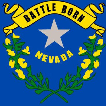 Nevada State Flag Sticker Decal - The Silver State Bumper Sticker