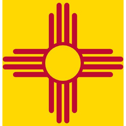 New Mexico State Flag Sticker Decal - The Land of Enchantment Bumper Sticker