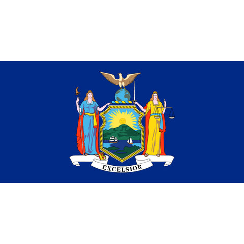 New York State Flag Sticker Decal - The Empire State Bumper Sticker - The FinderThings