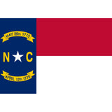North Carolina State Flag Sticker Decal - The Tar Heel State Bumper Sticker - The FinderThings