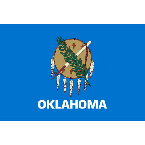 Oklahoma State Flag Sticker Decal - The Sooner State Bumper Sticker - The FinderThings