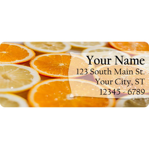 Orange Slices Personalized Return Address Labels Summer Fruit Citrus