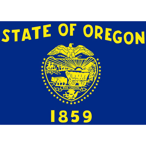 Oregon State Flag Sticker Decal - The Beaver State Bumper Sticker