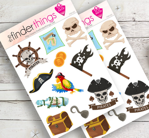 Pirate Captain Stickers for Scrapbook, Planners, and Fun - The FinderThings