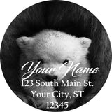 Polar Bear Personalized Return Address Labels Mama and Cub Bears