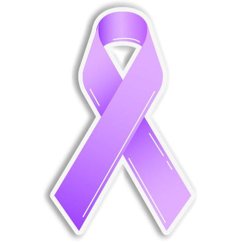 Pancreatic Cancer Epilepsy Awareness Purple Ribbon Car Bumper Sticker - The FinderThings