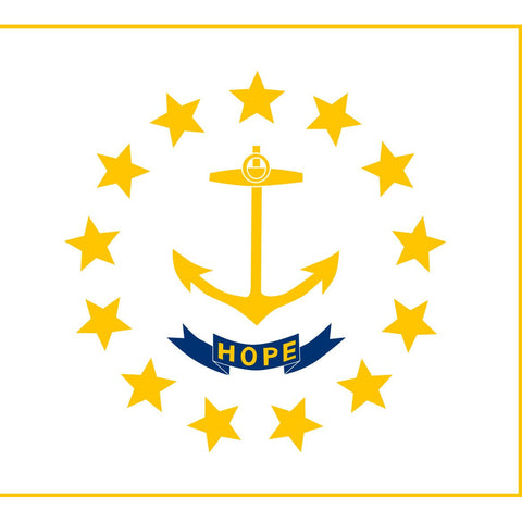 Rhode Island State Flag Sticker Decal - The Ocean State Bumper Sticker - The FinderThings