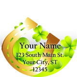 Shamrock and Horse Shoe Personalized Return Address Labels for St. Patrick's Day - The FinderThings