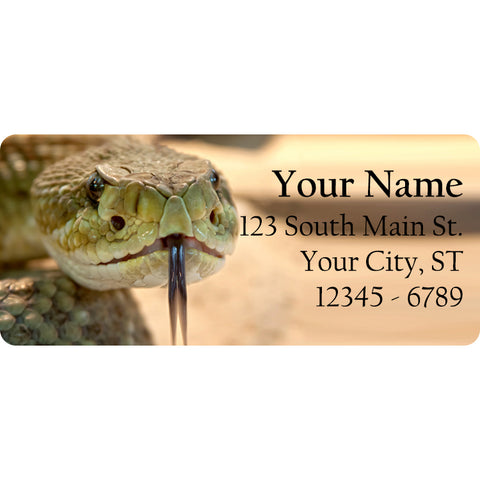 Snake Personalized Return Address Labels Rattlesnake Sidewinder - The FinderThings