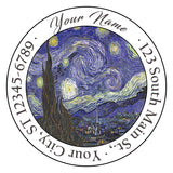 Van Gogh Starry Night Personalized Return Address Labels Artistic