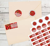 Strawberry Personalized Return Address Labels Summer Fruit Strawberries - The FinderThings