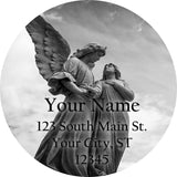 Granite Angels Personalized Return Address Labels Religious Angel - The FinderThings