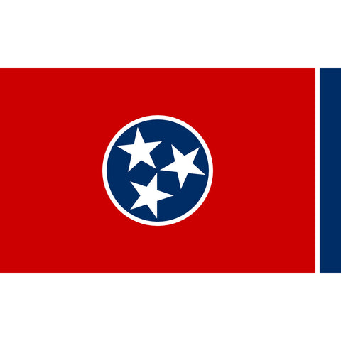 Tennessee State Flag Sticker Decal - The Volunteer State Bumper Sticker