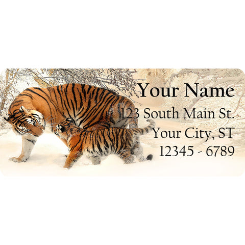 Tiger Face Personalized Return Address Labels Tigers Eyes - The FinderThings
