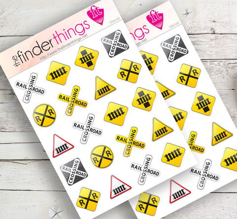 Railroad Train Stickers for Scrapbook, Planners, Diary, Crafts and Fun Locomotive - The FinderThings
