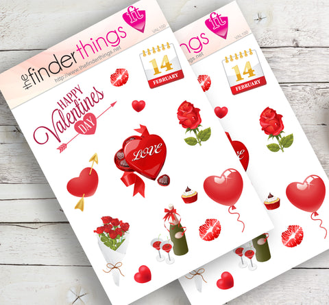 Valentines Day Stickers for Scrapbook, Planners, and Fun