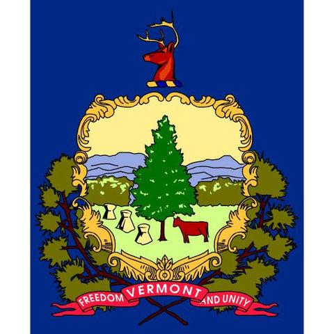 Vermont State Flag Sticker Decal - The Green Mountain State Bumper Sticker