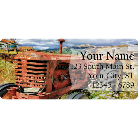 Vintage Farm Tractor Personalized Return Address Labels Farmland Tractors - The FinderThings