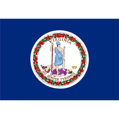 Virginia State Flag Sticker Decal - The Old Dominion State Bumper Sticker